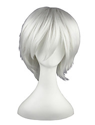 cheap -Synthetic Wig Straight Synthetic Hair White Wig 13cm(Approx5inch) Capless