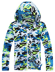 Unisex Hiking Jacket Waterproof Quick Dry Windproof Anti-Eradiation Breathable Top for Camping / Hiking Hunting Fishing Climbing Racing