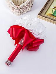 Pure White Flower Elegant Hand Made Decorative Artificial Crystal Beaded Flower Bride Vestidos Wedding Bouquets