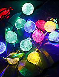 cheap -6m String Lights 30 LEDs Dip Led Warm White / RGB / White Waterproof / Rechargeable 100-240 V / IP44