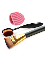 Makeup Toothbrush Foundation Brush And Cleaning Brush Egg Cosmetic Beauty Care Makeup for Face
