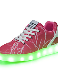 Women's Shoes Denim Fashion Sneakers Outdoor / Athletic / Casual Led Light Shoes for Women Pink