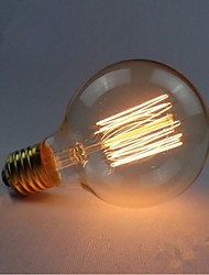 E27 AC220-240V 40W Silk Carbon Filament Incandescent Light Bulbs G80 Around Pearl