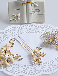 Women's / Flower Girl's Rhinestone / Alloy Headpiece-Wedding / Special Occasion Hair Combs / Hair Pin 3 Pieces
