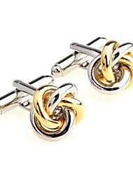 cheap -Men's Fashion Gold Alloy French Shirt Cufflinks (1-Pair)