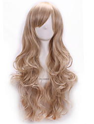 cheap -Synthetic Wig / Costume Wigs Body Wave With Bangs Synthetic Hair Side Part Blonde Wig Women's Long Halloween Wig / Carnival Wig Capless