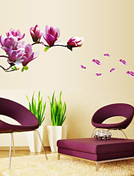 cheap -Still Life Fashion Florals Botanical Leisure Wall Stickers Plane Wall Stickers Decorative Wall Stickers Wedding Stickers, PVC Home