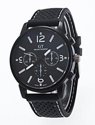 Недорогие -Муж. Модные часы Кварцевый Повседневные часы силиконовый Группа Кулоны Черный