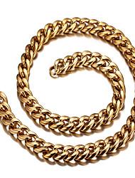 Homens Feminino Gargantilhas Aço Titânio 18K ouro Moda Europeu Personalizado bijuterias Jóias Para Diário Casual