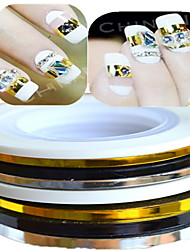 cheap -1pcs 3mm 20m Nail Art  Stripe Tape Line Sticker Nail Art Beauty Decoration Tools Random Delivery NC124