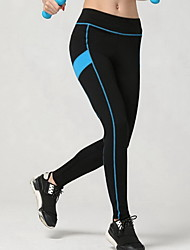 Women's Running Tights Gym Leggings Breathable Soft Compression smooth Bottoms for Exercise & Fitness Running Blue S M L XL