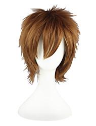 Parrucche Cosplay Naruto Gaara Marrone Corto Anime Parrucche Cosplay 30 CM Tessuno resistente a calore Uomo / Donna