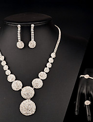 Women's Jewelry Set Crystal Bridal Fashion Wedding Party Special Occasion Anniversary Birthday Gift Rhinestone Rings Earrings Necklaces