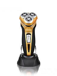 Недорогие -новые pritech бренд мужчины Водонепроницаемая бритва с плавающими головками стоят аккумуляторные 3d высокое качество