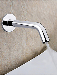 Contemporary Wall Mounted Touch/Touchless Ceramic Valve One Hole Hands free One Hole Chrome , Bathtub Faucet