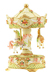 Music Box Toys Horse Carousel Pieces Gift