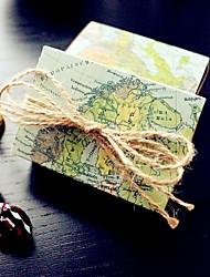 povoljno -Kuboidan Kartica papira Naklonost Holder s Uzorak Milost Kutije / Milost Torbe / Poklon kutije