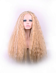 cheap -Best-selling Europe And The United States A Wig Brown Dyed Polyester Corn Hot Points in The Curly  Hair Wig