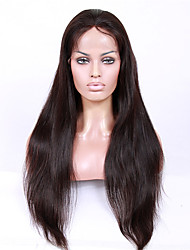 cheap -Virgin Human Hair Machine Made / U Part / Glueless Full Lace Wig Brazilian Hair Straight Wig 130% / 150% / 180% With Baby Hair / Natural Hairline / African American Wig Women's Short / Medium Length