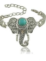 Femme Charmes pour Bracelets Mode Vintage Bohême Pierres de naissance Sculpté Style Folk bijoux de fantaisie Résine Turquoise Alliage