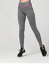 abordables -Mujer Pantalones de Running - Amarillo, Rosa Rojo, Azul cielo Deportes Leggings Ropa de Deporte Transpirable, Suave, Compresión