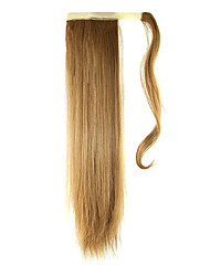 cheap -24 inch Strawberry Blonde Clip In Straight Ponytails Wrap Around Synthetic Hair Piece Hair Extension