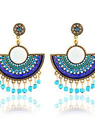 economico -perline stile bohème fiori orecchini con nappe stile classico femminile