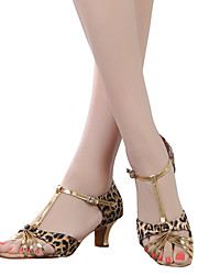 cheap -Women's Dance Shoes Belly / Latin / Dance Sneakers / Modern / Swing Shoes / Salsa / SambaSatin / Patent Leather /