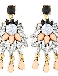 Недорогие -Женский Серьги-слезки Мода Pоскошные ювелирные изделия европейский Синтетические драгоценные камни Резина Сплав Бижутерия Назначение