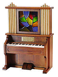 Недорогие -дерево коричневый творческий романтическая музыкальная шкатулка для подарка