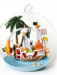 Недорогие -творческий поделки хижина б-012-б мини-парусные приключения творческие подарки ручной работы дома модель здания