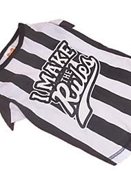 preiswerte -Hund T-shirt Hundekleidung Schwarz/Weiß Kostüm Für Haustiere