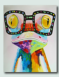 High Skills Artist Hand-painted Frog Oil Painting On Cavas With Frame Handmade Abstract Painting For Office Decoration