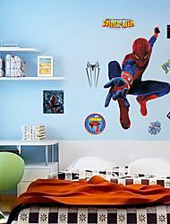 cheap -Spider-Man Wall Stickers Environmental DIY Superhero Kids Bedroom Plane Wall Decals Wall Art