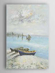 ručně malované olejomalba krajiny čluny na pláži s natažené rámem 7 stěny arts®