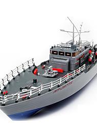 baratos -Barco de Guerra HT HT-2877 1:115 Encouraçado RC Boat Electrico Não Escovado 2 2.4G Cinza