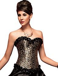 cheap -YUIYE® Women Leopard Sexy Lingerie Waist Training Corset Bustier Tops Shapewear  Overbust Corset Plus Size S-2XL