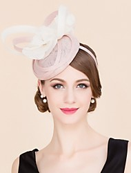 Flax Silk Hats Headpiece Wedding Party Elegant Classical Feminine Style