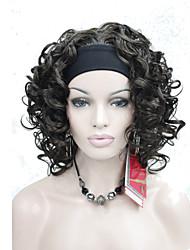 economico -Capelli sintetici Parrucche Senza tappo Parrucca di carnevale Parrucca di Halloween Marrone