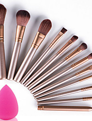 cheap -12 Makeup Brush Set Nylon Portable Travel Eco-friendly Professional Full Coverage Wood Eye Face Eyebrow Eyeliner EyeShadow Blush