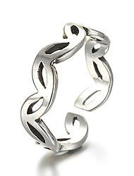 baratos -Anéis Vintage / Estilo Punk Diário / Casual Jóias Prata de Lei Anéis Grossos 1pç,Ajustável Prateado