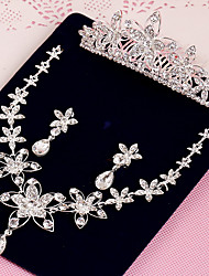Women's Rhinestone Wedding Party Special Occasion Anniversary Birthday Engagement Gift Rhinestone Alloy Earrings Necklaces Tiaras