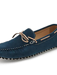 Men's Boat Shoes Moccasin Nappa Leather Spring Summer Fall Casual Outdoor Office & Career Dress Moccasin Dark Blue Dark Brown 1in-1 3/4in