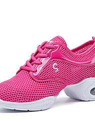 preiswerte -Damen Schuhe für modern Dance Stoff Gespaltene Sole Blockabsatz Keine Maßfertigung möglich Tanzschuhe Weiß / Schwarz / Rosa