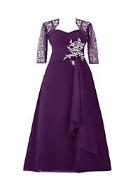 a-line spaghetti cinghie lunghezza pavimento chiffon charmeuse madre del vestito sposa con paillettes da drrs