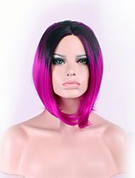 baratos -mais vendido da Europa e os Estados Unidos uma peruca gradiente de preto mei cabeça bobo centavo vermelho em uma peruca