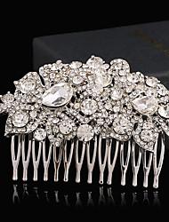abordables -rhinestone alloy hair peines headpiece estilo femenino clásico