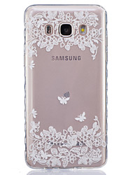 economico -Custodia Per Samsung Galaxy Samsung Galaxy Custodia Transparente Per retro Fiore decorativo Morbido TPU per J7 / J5 (2016) / J5