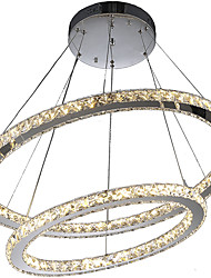 cheap -Modern Crystal Chandeliers Pendant Lighting Lamp with 2Ring D6080CM 60W CE FCC ROHS