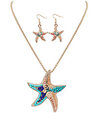 cheap -Women's Jewelry Set - Leather, Resin Starfish European, Fashion Include Necklace / Earrings Silver / Golden For Party / Daily / Casual